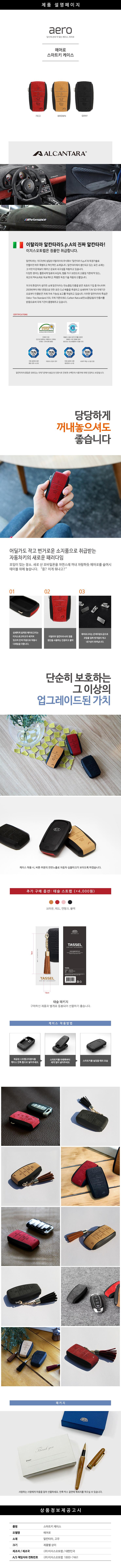에어로 자동차키홀더 코나 스마트키케이스 - 이지스, 32,000원, 카인테리어, 키홀더/키케이스